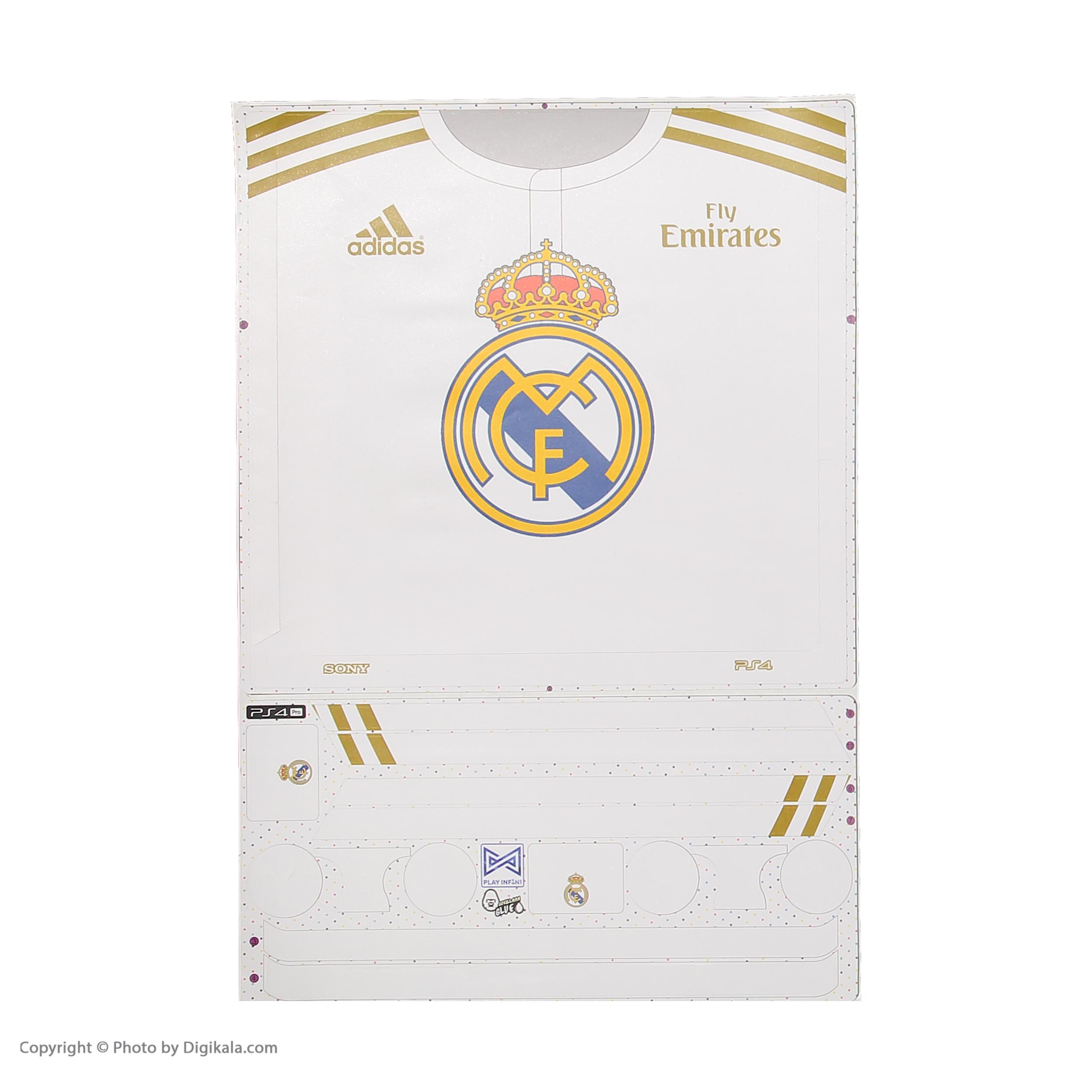 خرید اینترنتی برچسب پلی استیشن 4 پرو پلی اینفینی مدل Real Madrid CF به همراه برچسب دسته اورجینال