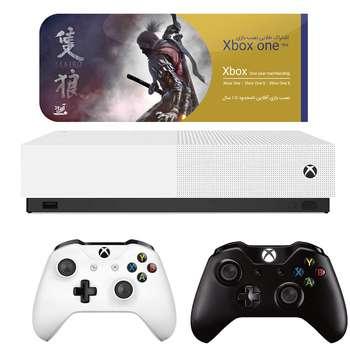 مجموعه کنسول بازی مایکروسافت مدل Xbox One S All Digital ظرفیت 1 ترابایت به همراه ۲۰ عدد بازی