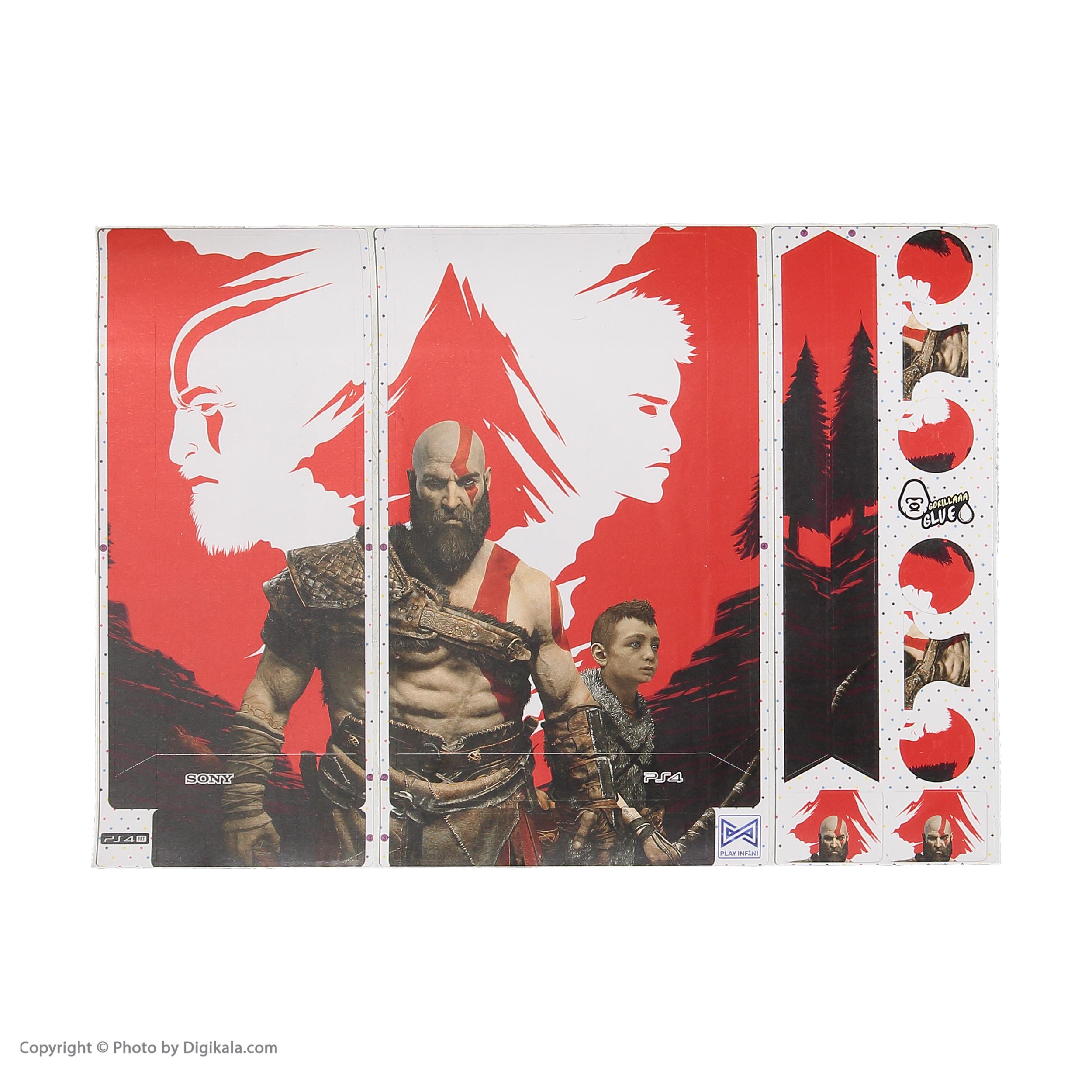 خرید اینترنتی برچسب پلی استیشن 4 پلی اینفینی مدل God of War 03 اورجینال