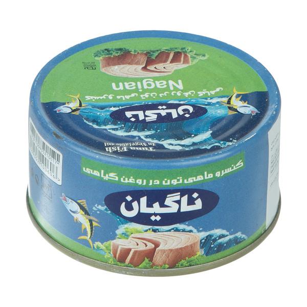 کنسرو ماهی تون در روغن گیاهی ناگیان - 180گرم