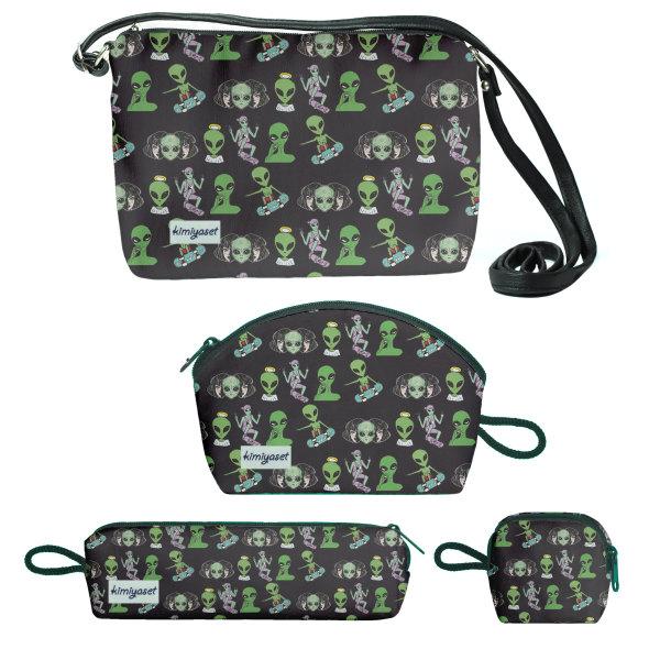 کیف دخترانه طرح aliens  مجموعه 4 عددی
