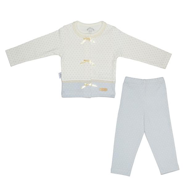 ست تی شرت و شلوار نوزادی دخترانه اینور بیبی طرح پاپیون