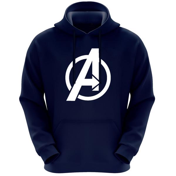 هودی مردانه طرح Avengers کد F268 رنگ سرمه ای