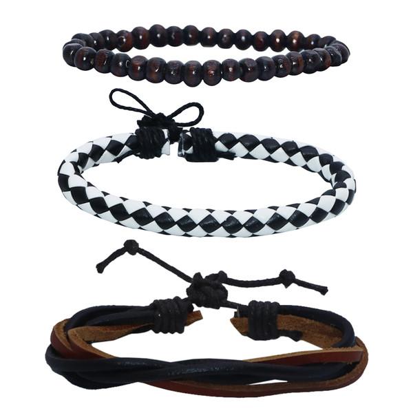 دستبند مردانه کد chf08 مجموعه 3 عددی