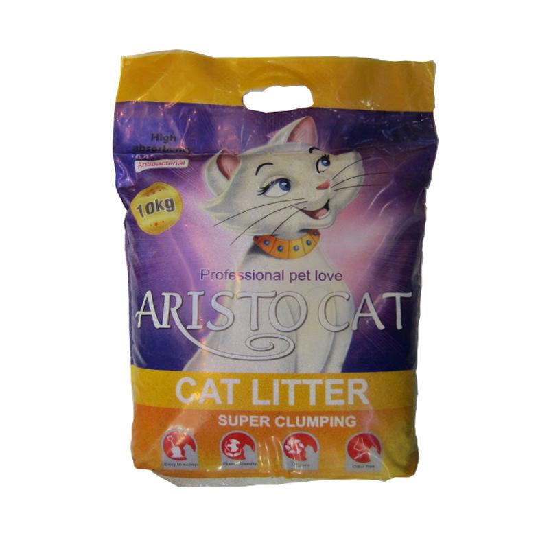 خاک بستر گربه آریستوکت مدل گرانولی وزن 10 کیلوگرم