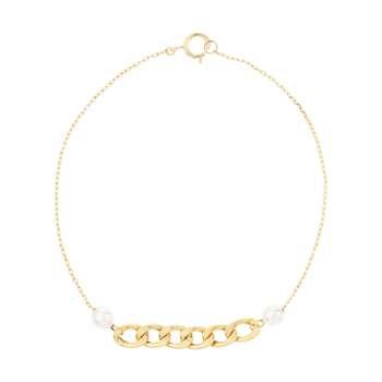 دستبند طلا 18 عیار زنانه نیوانی مدل DA700