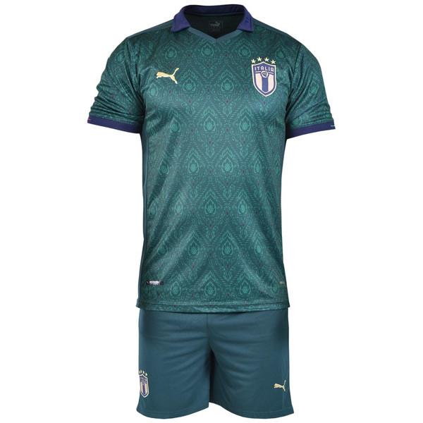ست پیراهن و شورت ورزشی مردانه طرح ایتالیا کد 2019.20 رنگ سبز