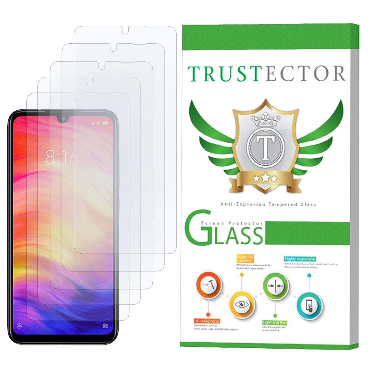 محافظ صفحه نمایش تراستکتور مدل GLS مناسب برای گوشی موبایل شیائومی Redmi Note 7 بسته 5 عددی