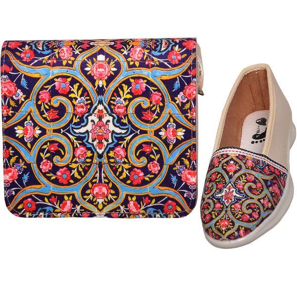 ست کیف و کفش زنانه طرح سنتی کد sg805
