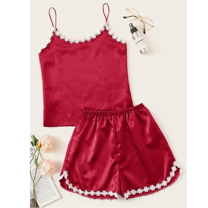 لباس خواب زنانه کد T-871 رنگ قرمز