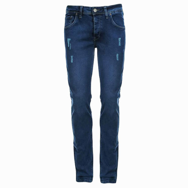 شلوار جین مردانه کد 824 رنگ آبی تیره