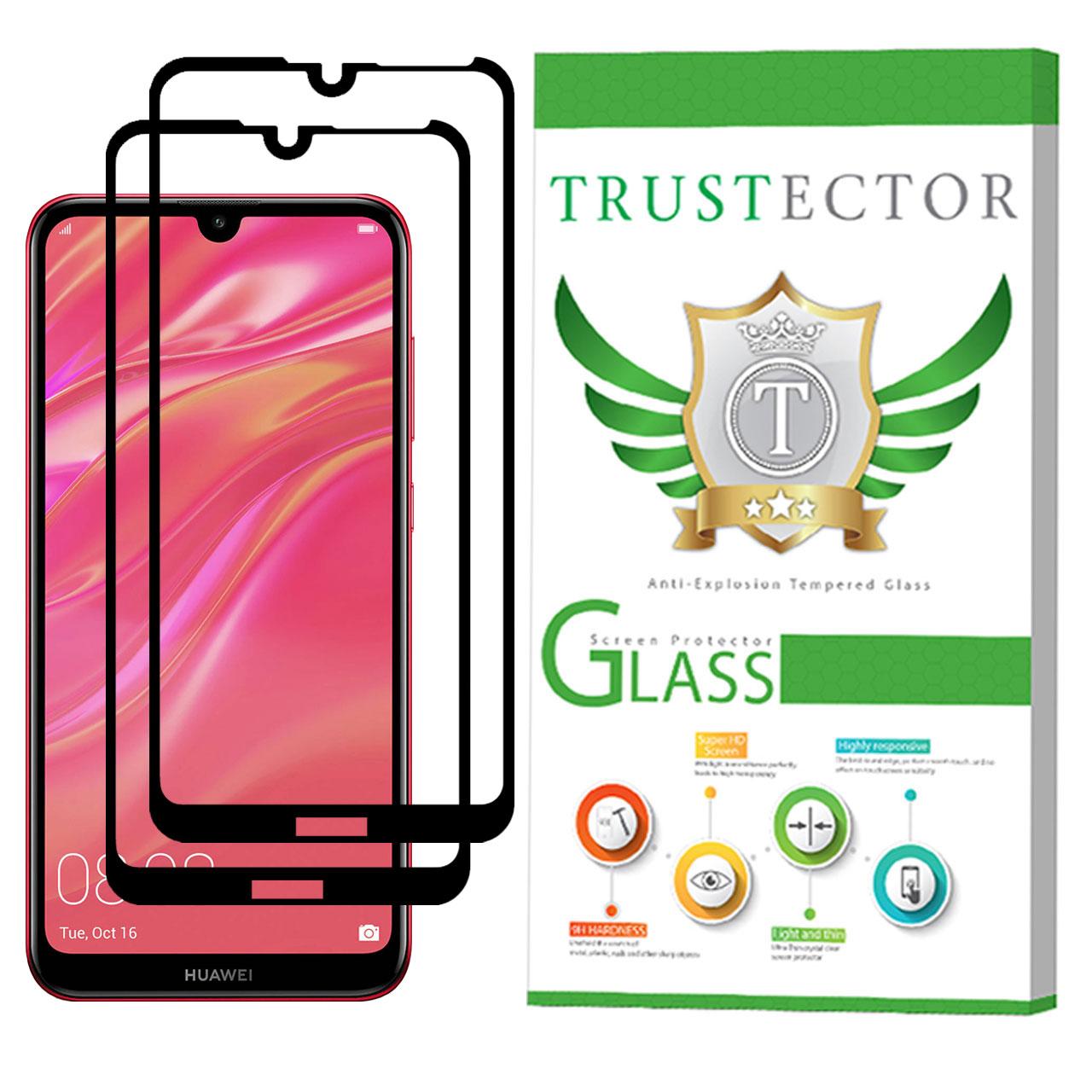 محافظ صفحه نمایش تراستکتور مدل GSS مناسب برای گوشی موبایل هوآوی Y7 Pro 2019 بسته 2 عددی