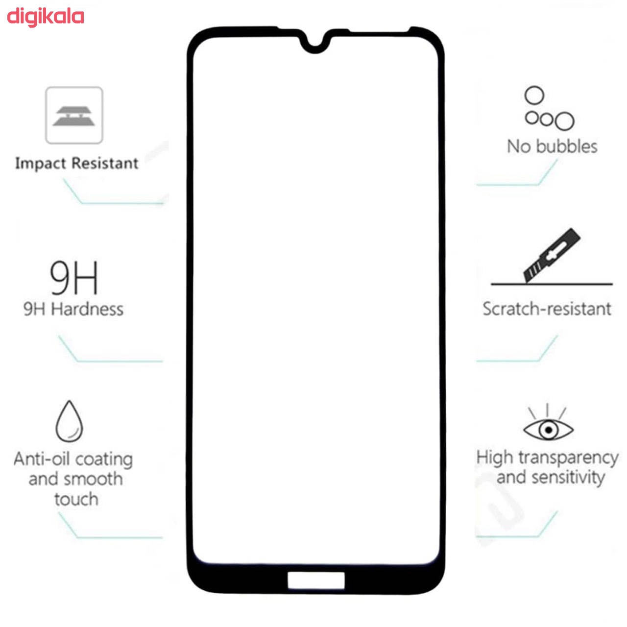 محافظ صفحه نمایش تراستکتور مدل GSS مناسب برای گوشی موبایل هوآوی Y7 Prime 2019 بسته 3 عددی main 1 8