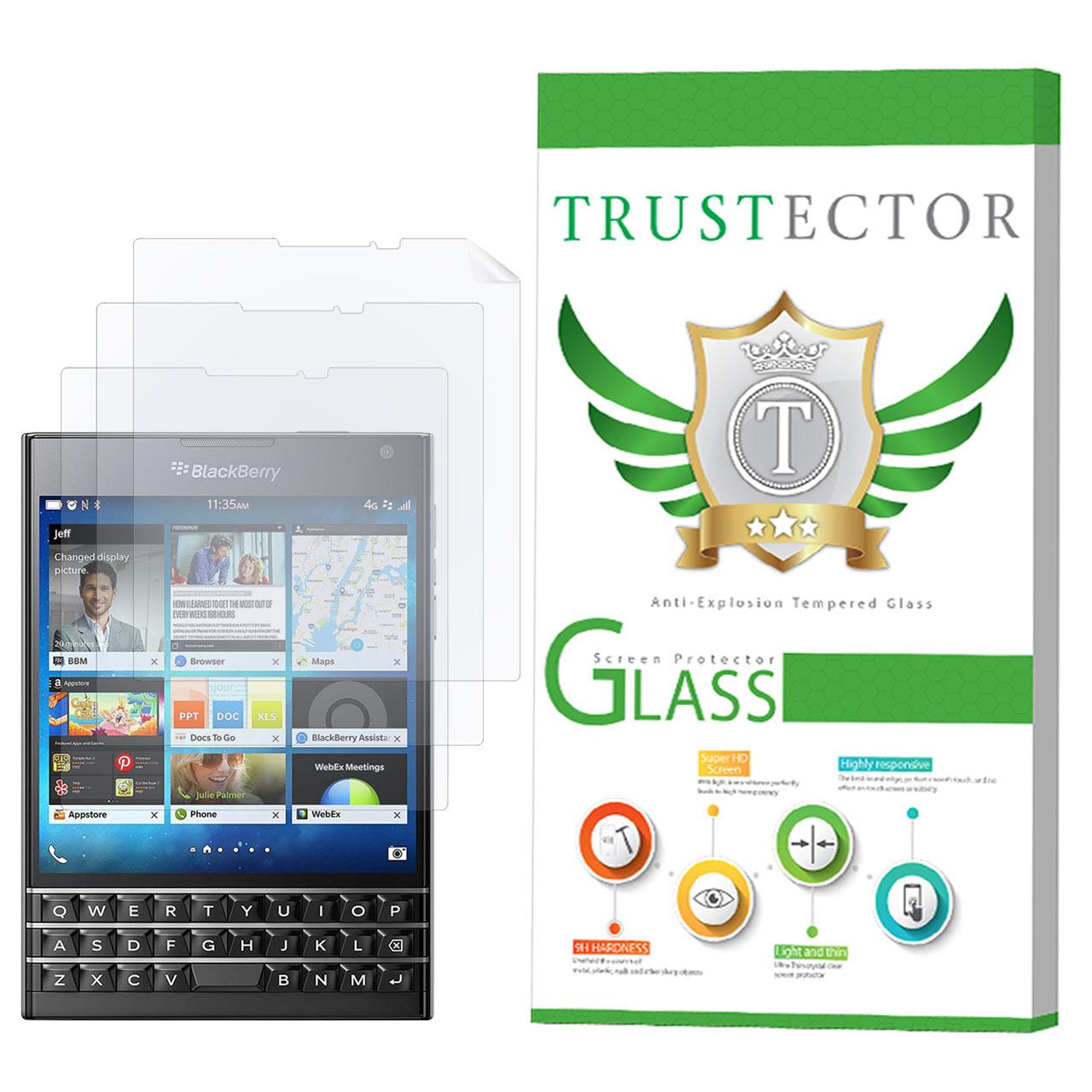 محافظ صفحه نمایش تراستکتور مدل GNF مناسب برای گوشی موبایل بلک بری Passport بسته 3 عددی