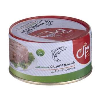 کنسرو ماهی تون در روغن گیاهی بیژن - 180 گرم