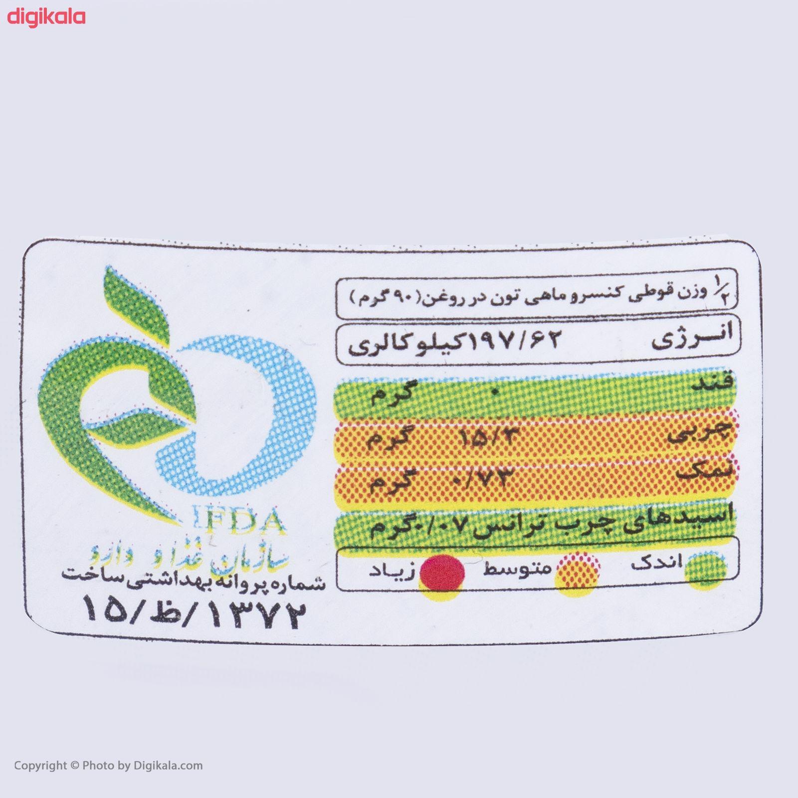 کنسرو ماهی تون در روغن گیاهی بیژن - 180 گرم main 1 4