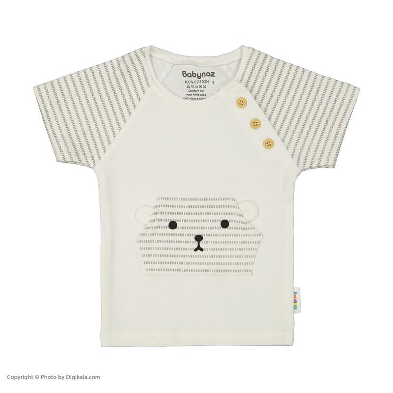 ست تی شرت و شلوار نوزادی بی بی ناز مدل 1501483-0193