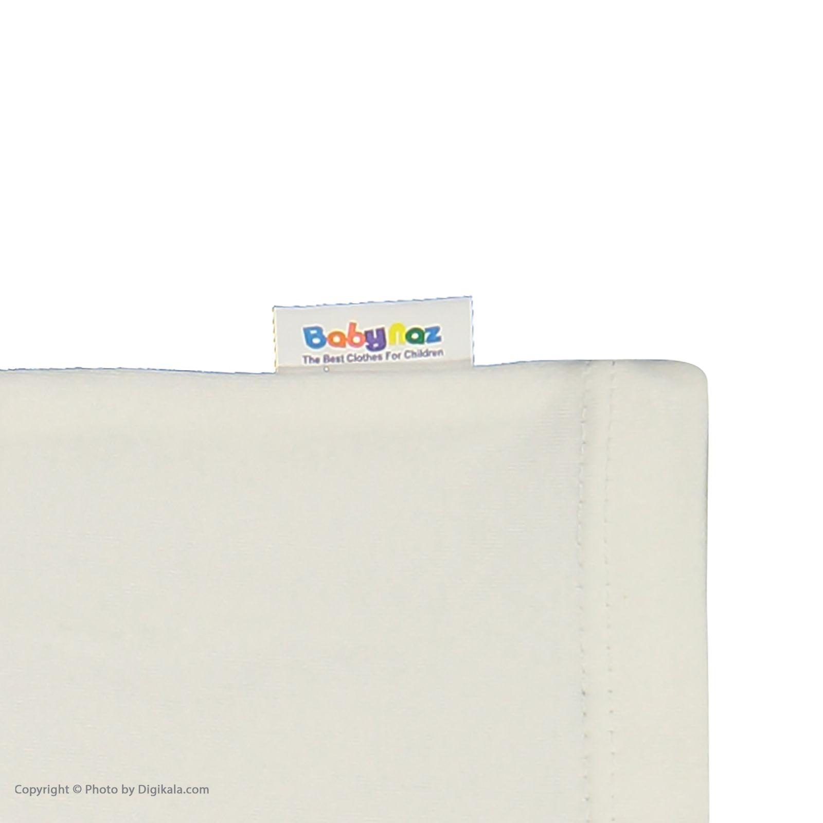 ست سرهمی و تی شرت نوزادی بی بی ناز مدل 1501492-0193 - سفید طوسی - 11