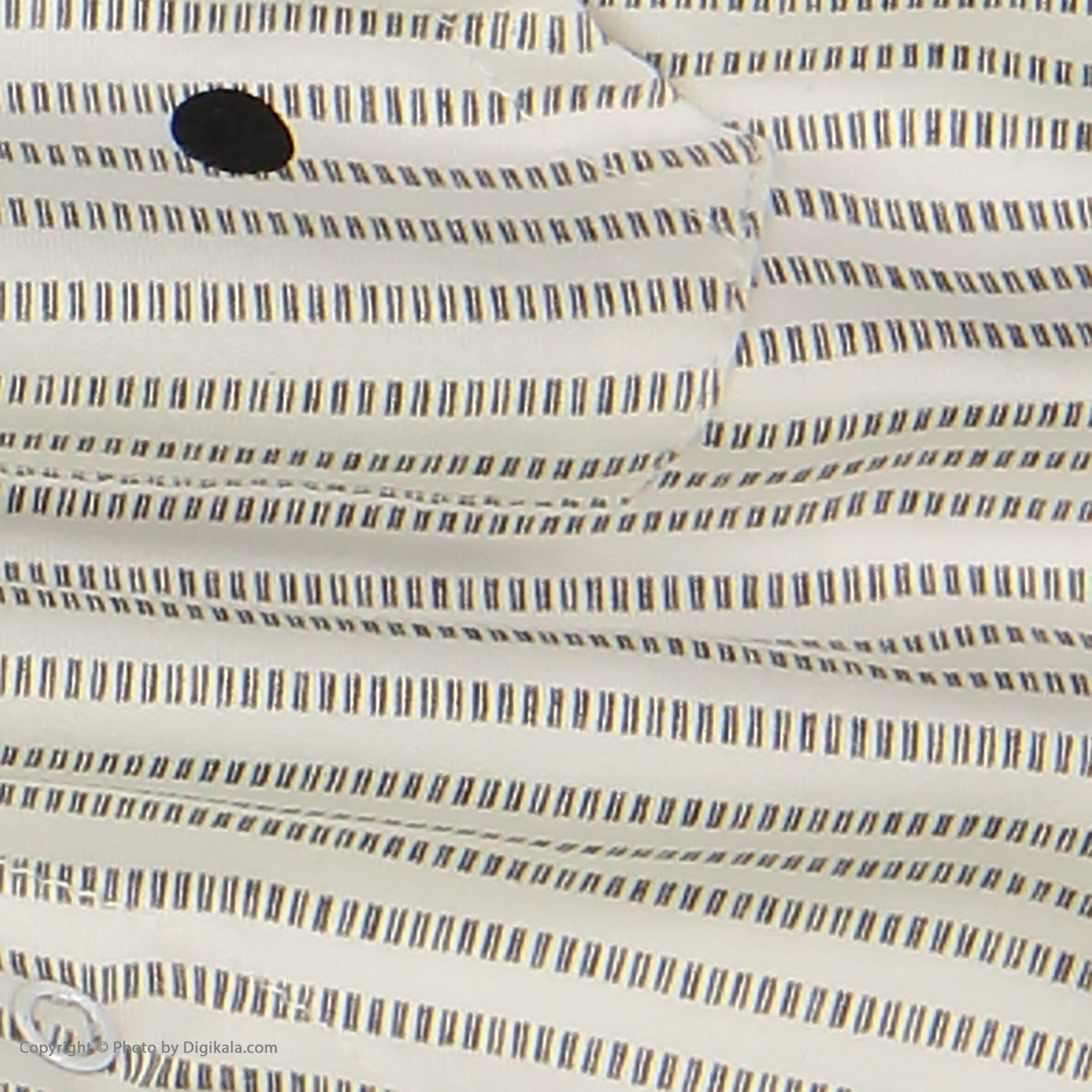 ست سرهمی و تی شرت نوزادی بی بی ناز مدل 1501492-0193 - سفید طوسی - 10