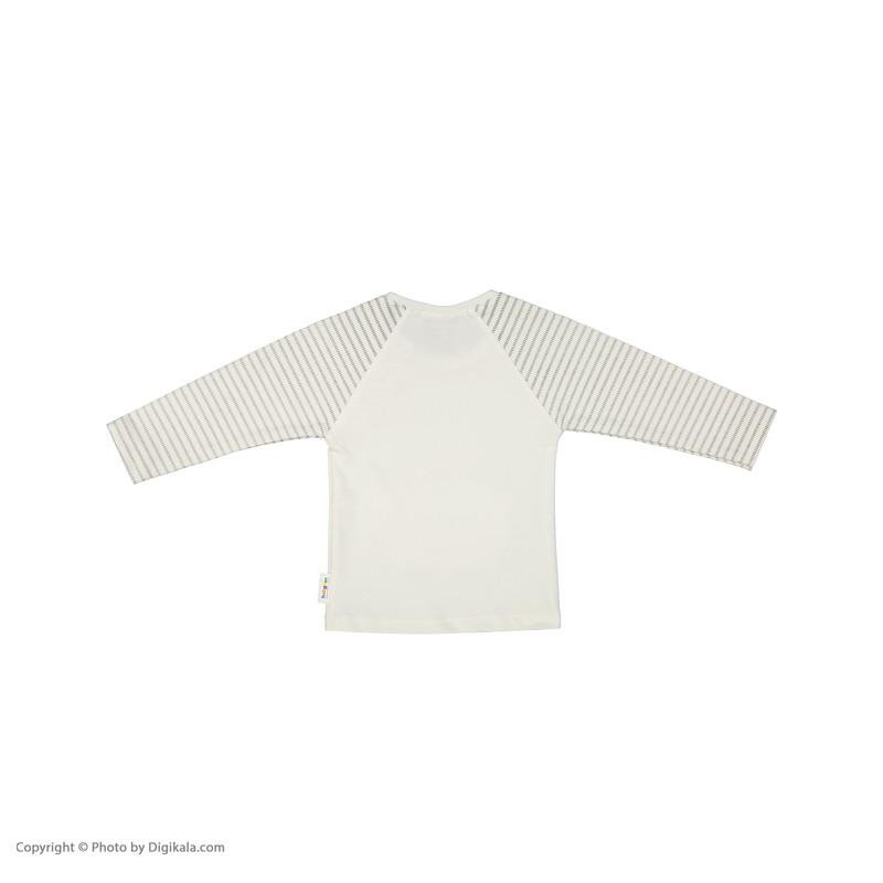 تی شرت نوزادی بی بی ناز مدل 1501485-0193
