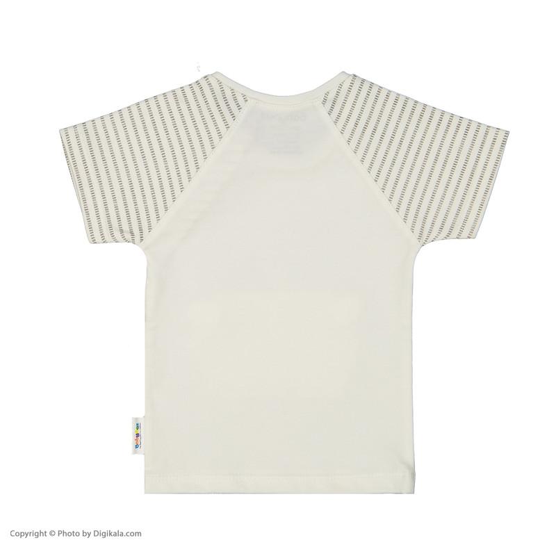 تی شرت نوزادی بی بی ناز مدل 1501486-0193