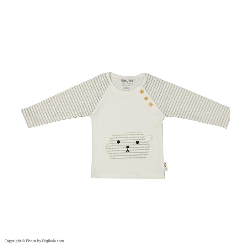 ست تی شرت و شلوار نوزادی بی بی ناز مدل 1501482-0193
