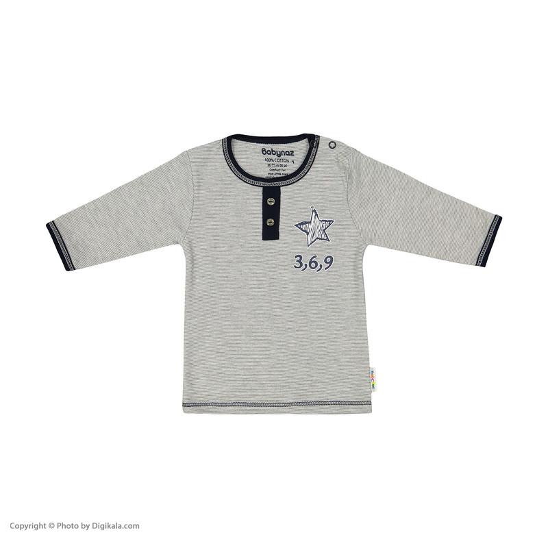 ست تی شرت و شلوار نوزادی بی بی ناز مدل 1501447-90