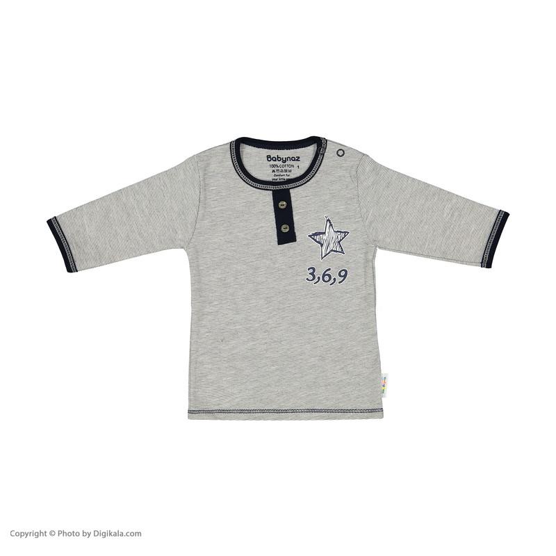 ست تی شرت و شلوار نوزادی بی بی ناز مدل 1501449-90