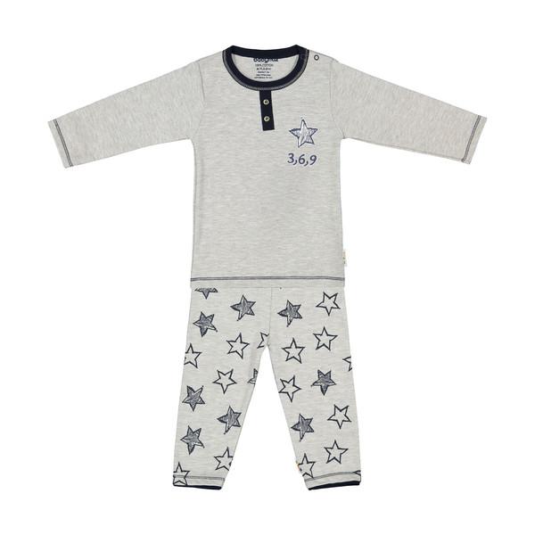 ست تی شرت و شلوار نوزادی بی بی ناز مدل 1501450-90