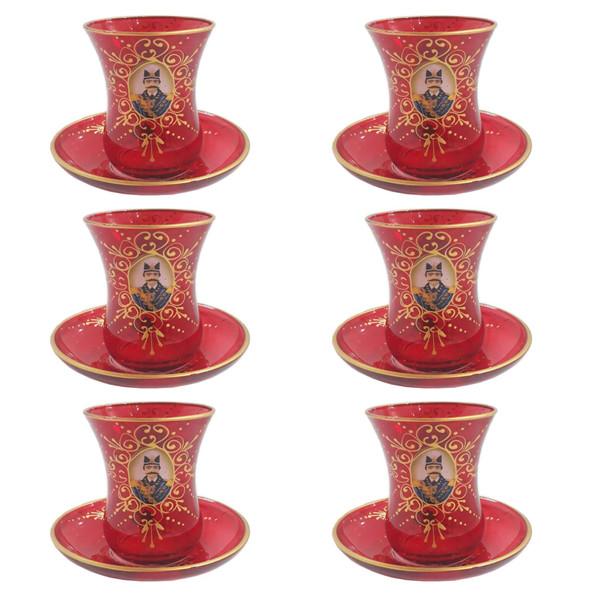 سرویس چای خوری 12 پارچه لاو مدل شاه عباسی