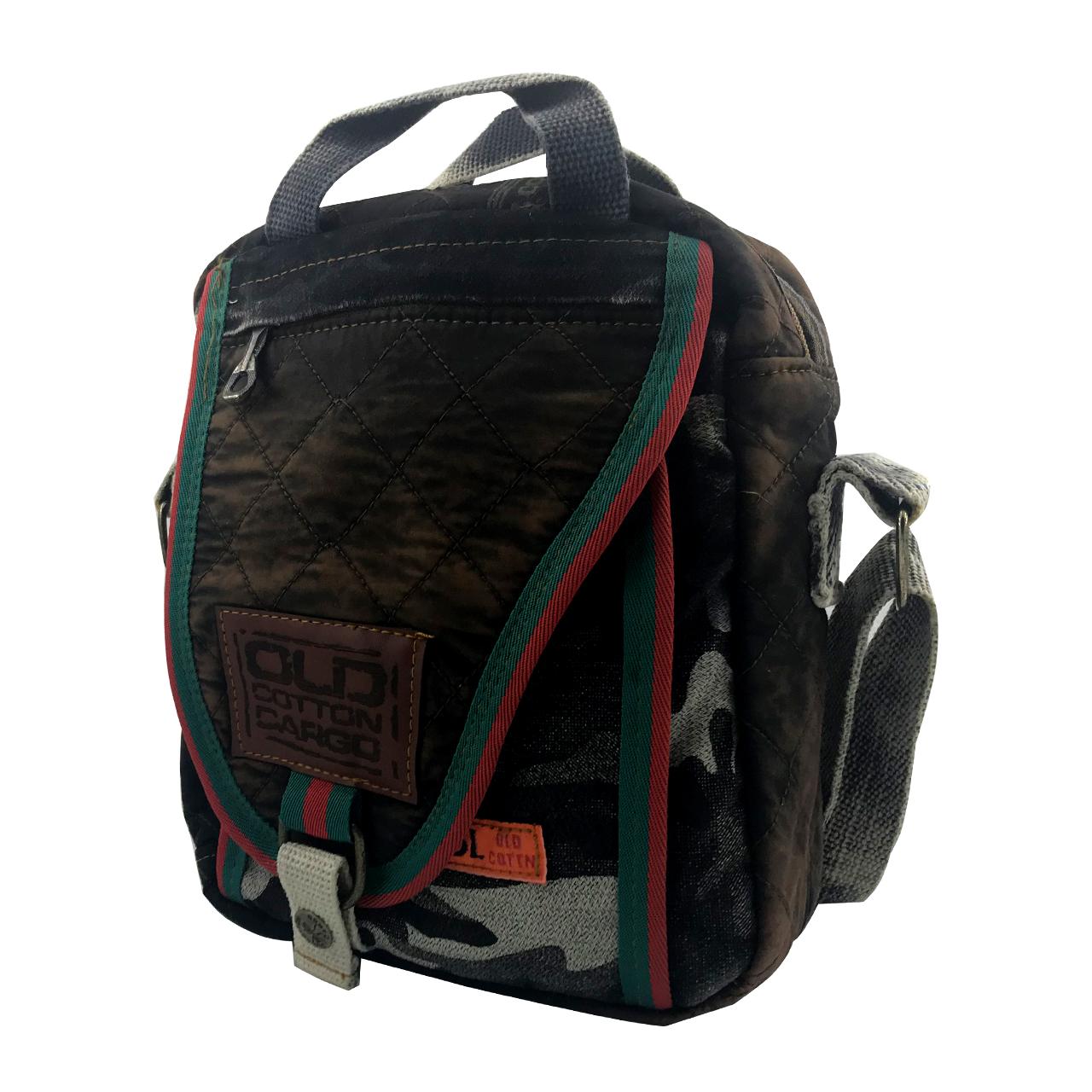 کیف رو دوشی اولد کتان کارگو مدل OC110