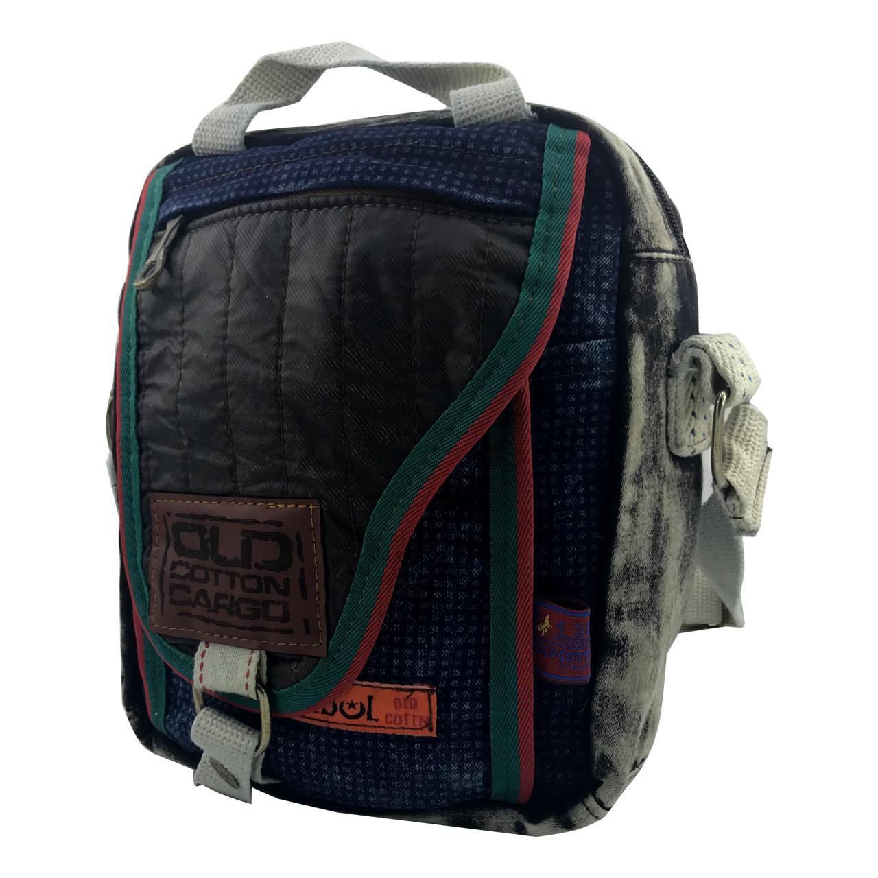 کیف رو دوشی اولد کتان کارگو مدل OC112