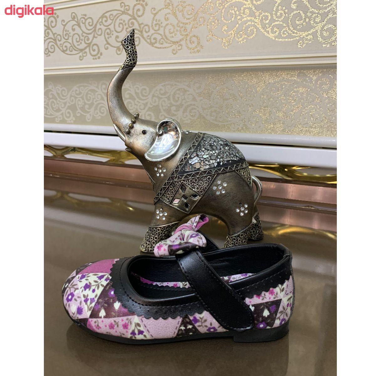 کفش دخترانه طرح گلزار مدل 98500