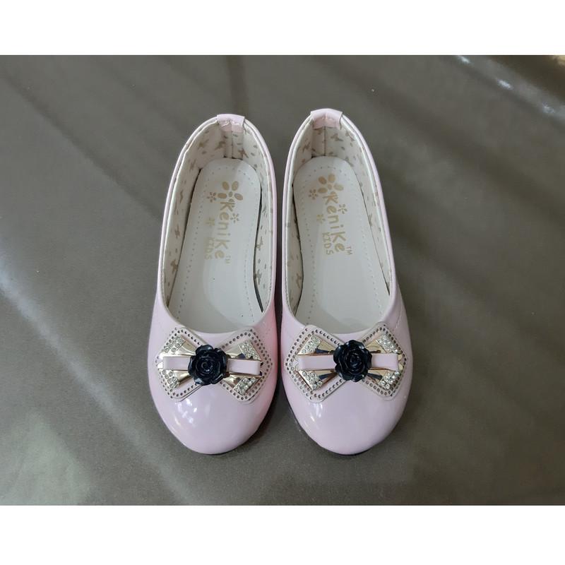 کفش دخترانه طرح رز سیاه مدل 1021