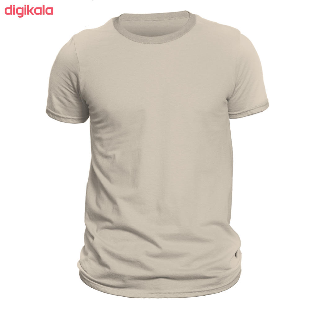 تیشرت آستین کوتاه مردانه کد D1WCRR رنگ کرم
