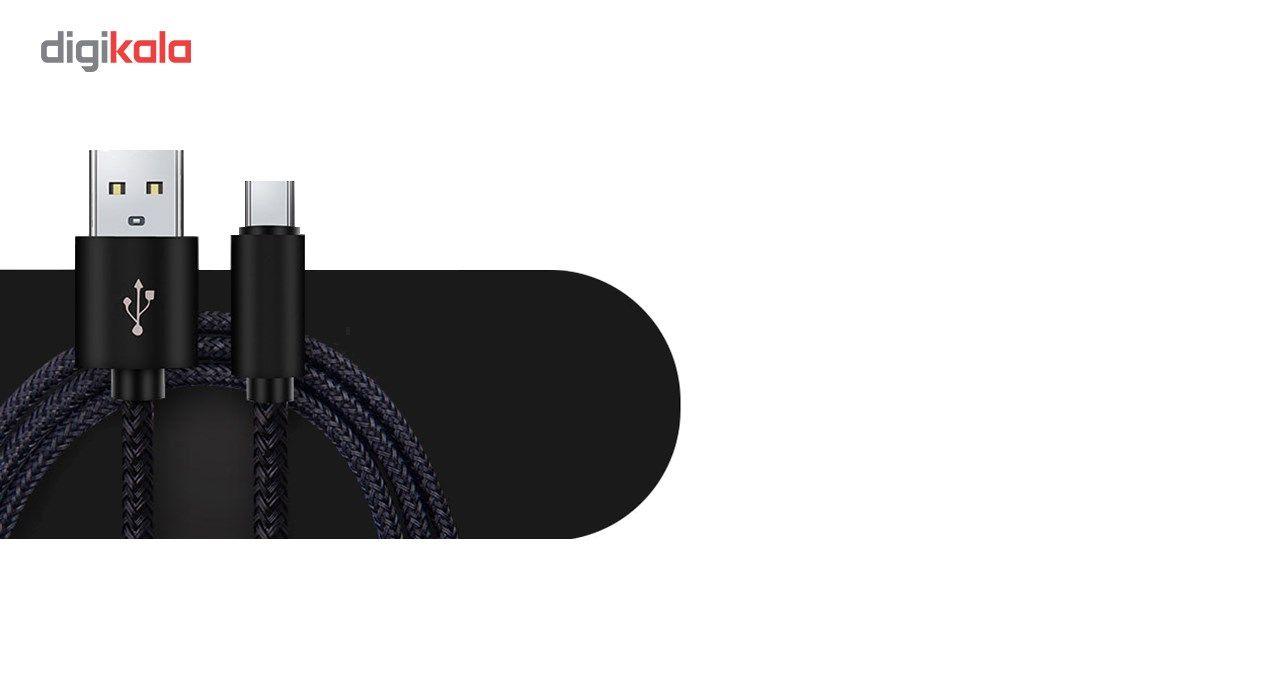کابل تبدیل USB به MicroUSB مدل Nylon به طول 20 سانتی متر  Nylon USB To microUSB Cable 20cm