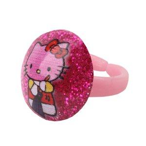 انگشتر دخترانه طرح کیتی کد 0029