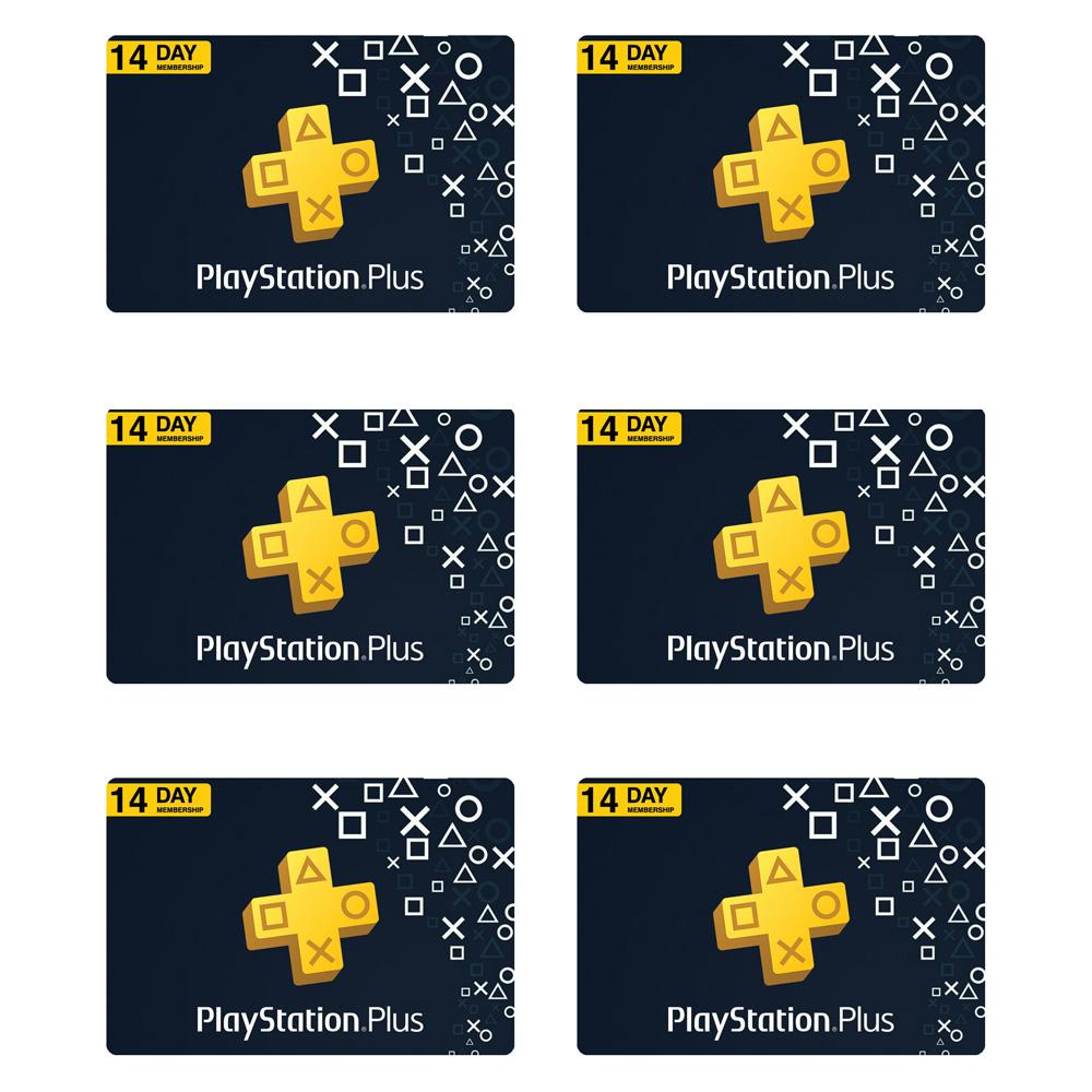 گیفت کارت 14 روزه پلی استیشن پلاس کد 84 بسته 6 عددی