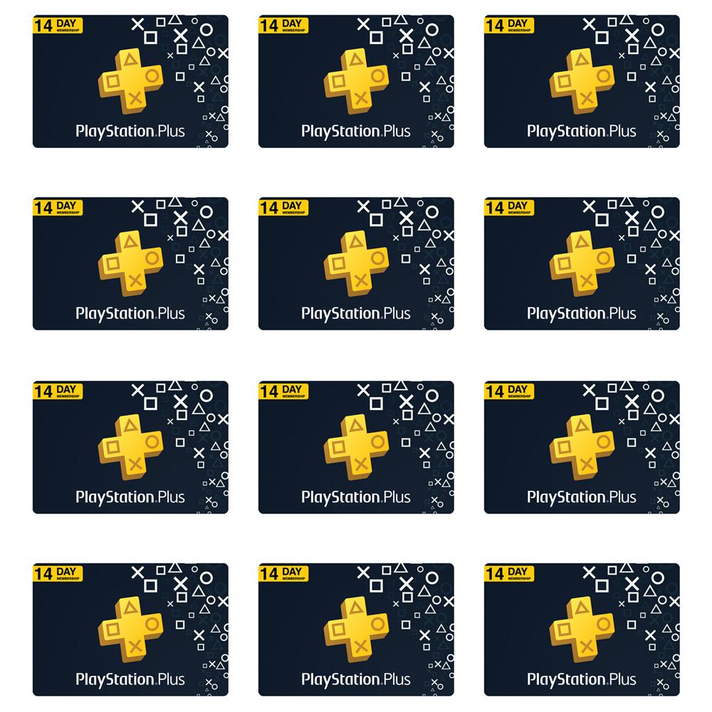گیفت کارت 14 روزه پلی استیشن پلاس کد 168 بسته 12 عددی