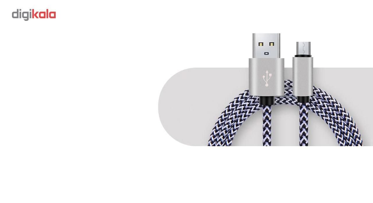 کابل تبدیل USB به MicroUSB مدل Nylon به طول 20 سانتی متر main 1 2