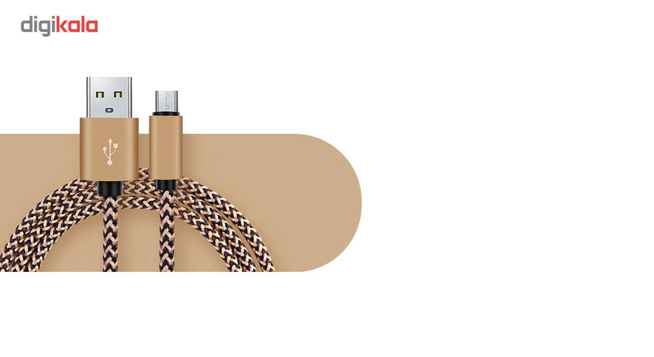 کابل تبدیل USB به MicroUSB مدل Nylon به طول 20 سانتی متر main 1 3