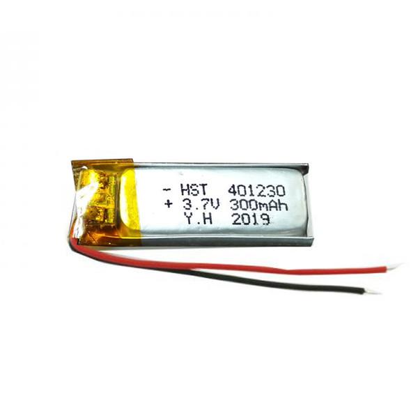 باتری لیتیومی کد 401230 ظرفیت 300 میلی آمپر ساعت