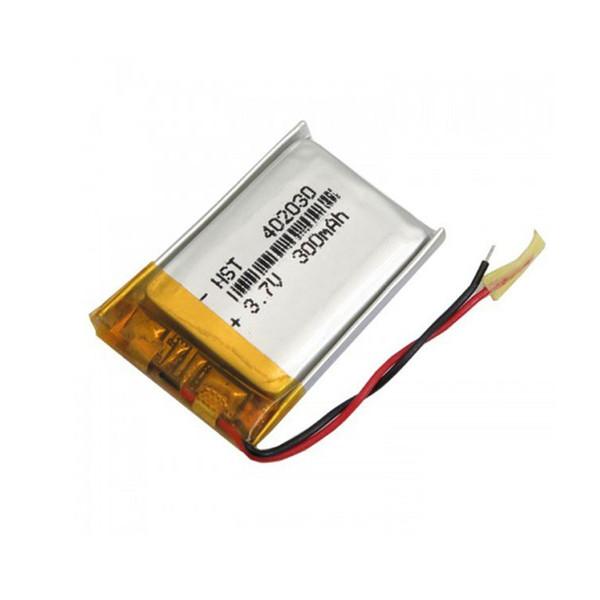 باتری لیتیومی مدل 402030 ظرفیت 300 میلی آمپر ساعت