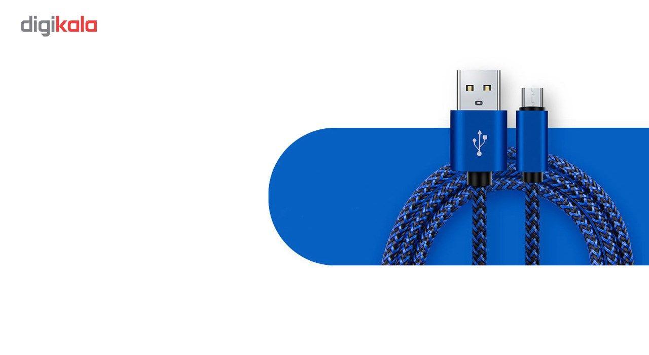 کابل تبدیل USB به MicroUSB مدل Nylon به طول 20 سانتی متر main 1 4