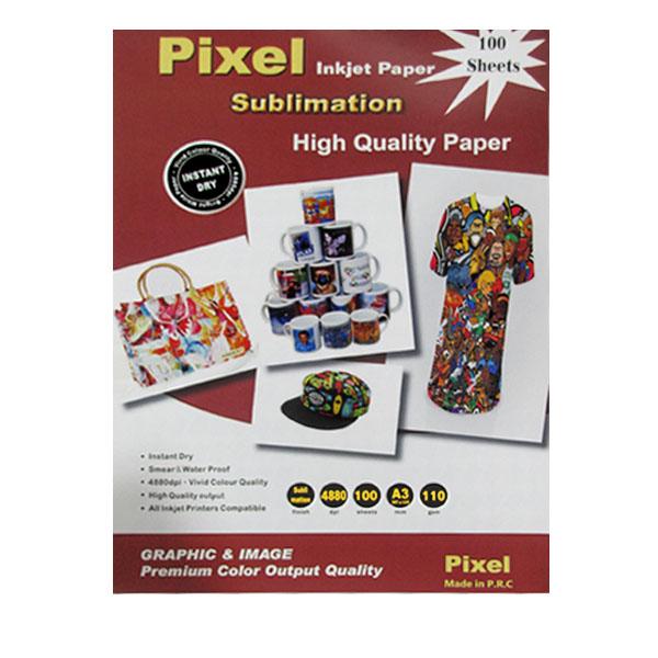 قیمت                      کاغذ سابلیمیشن پیکسل مدل P-gh110 سایز A3 بسته 100 عددی