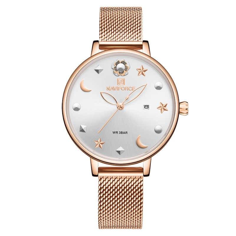 ساعت مچی عقربه ای زنانه نیوی فورس مدل NF5009L -RG-W              خرید (⭐️⭐️⭐️)