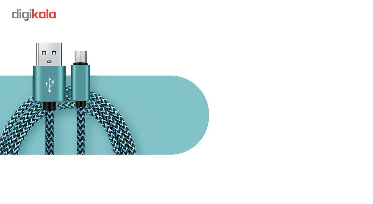 کابل تبدیل USB به MicroUSB مدل Nylon به طول 20 سانتی متر main 1 5