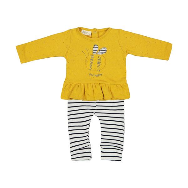 ست بلوز و شلوار نوزادی دخترانه رابو مدل 2051106-16