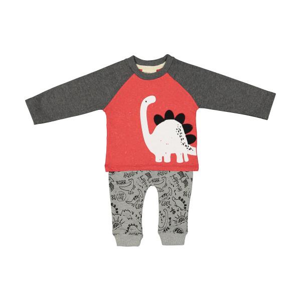 ست تی شرت و شلوار نوزادی رابو مدل 2051102-7293