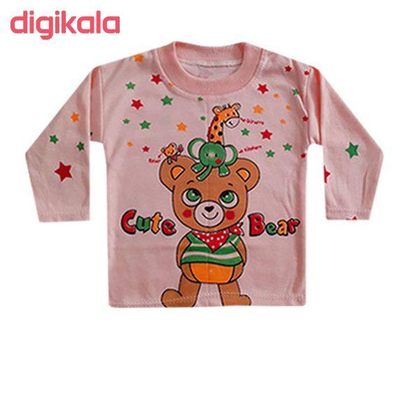 ست تی شرت آستین بلند و شلوار نوزاد کد A-05